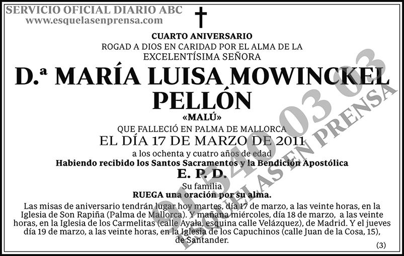 María Luisa Mowinckel Pellón